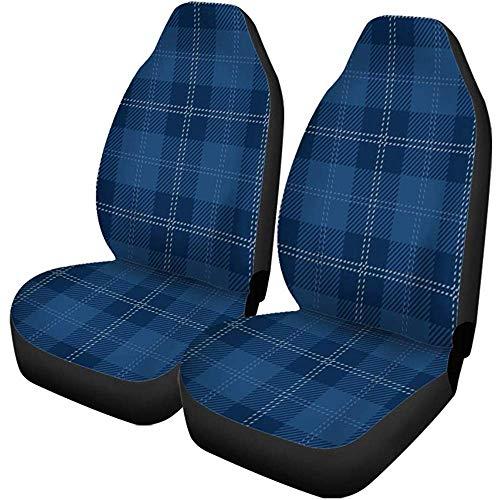 Auto Stoelhoezen Blauw Tartan Plaid Royal Rok Britse Keltische Geruit Universele Auto Stoelen Protector