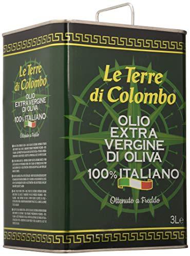 Le Terre di Colombo – Huile d'olive extra-vierge 100% italienne, bidon métallique de 3l