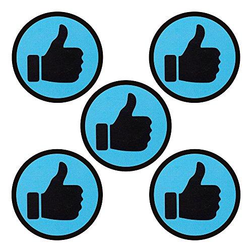 5 magneten hoog voor magneetborden, koelkasten, planborden en whiteboards. Duim of likeur-emoji-magneet.