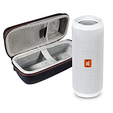 JBL Flip 4 Portable Bluetooth Wireless Speaker Bundle with Protective Travel Case - White