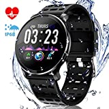 CanMixs CM10 Smart Watch, IP67 Wasserdichte Fitnessuhr Activity Tracker 1,3-Zoll-IPS-Farbbildschirm...