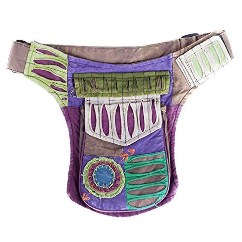 Razor cut fanny cotton fanny pack Cotton Waistpack Hip Burning Man Renaissance Natural Eco Festival Belt Travel Money Pack