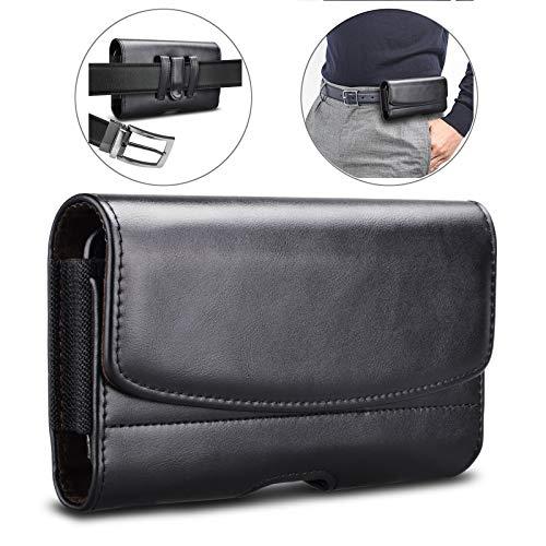 Eutekcoo Handy Gürteltasche, Hülle Leder Tasche RFID 7.13