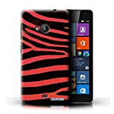 Stuff4 Phone Case for Microsoft Lumia 535 Zebra Animal