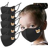 CSQQ 5 Pezzi Natale Halloween Cotone Lavabili Riutilizzabili Moda Unisex-3D Stampa Tie-Dye-Visiera Viso Comodi Antipolvere Antivento Anti-Smog Filtranti Per Salute Aperto Sportivo,Uso Quotidiano