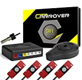 Car Rover Sensor Aparcamiento Kit 4 13mm Sensor Marcha Atras con Zumbador Bibi Alarma de Sonido (Plata)
