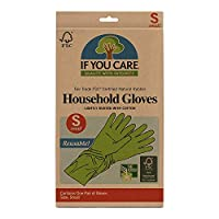 IF YOU CARE Household Gloves - Small 家庭用 作業用 ゴム手袋スモール (1) [並行輸入品]