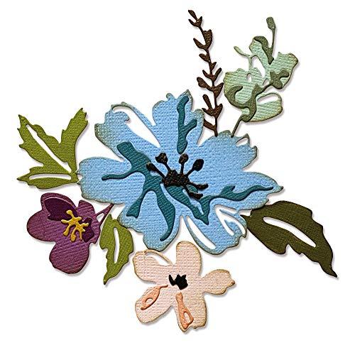 Sizzix 665210 Troquel Thinlits diseño de flores #2 por Tim Holtz 8 unidades