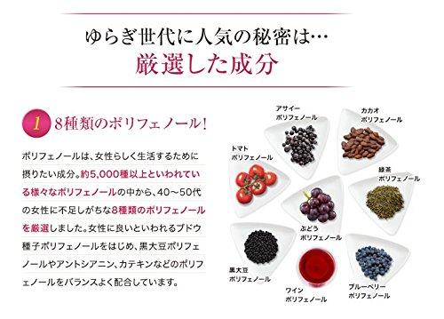 エーザイユベラ贅沢ポリフェノールパウチタイプ60粒入り約30日分天然ビタミンEポリフェノール