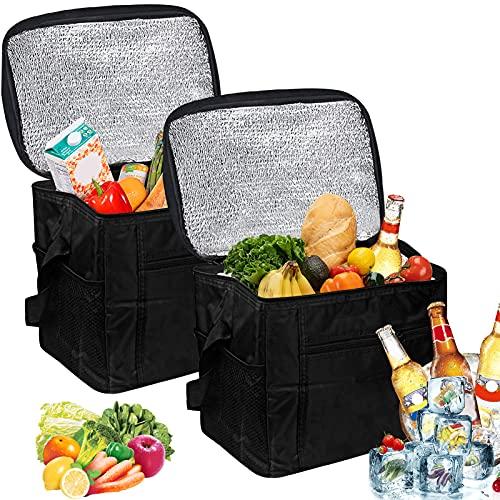Nevera portátil plegable, 10 L, bolsa isotérmica, bolsa isotérmica, bolsa isotérmica para picnic, color negro