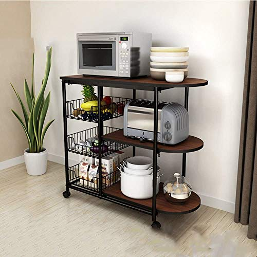 lqgpsx Küchenregal Küche Liefert Lagerregal Boden Mehrschichtige Mikrowelle Lagerung Separator