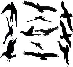 Anti-Collision Window Alert Bird Stickers Glass Door Protection Save Birds Window Decals - Set of 12 Silhouettes (Combinations)