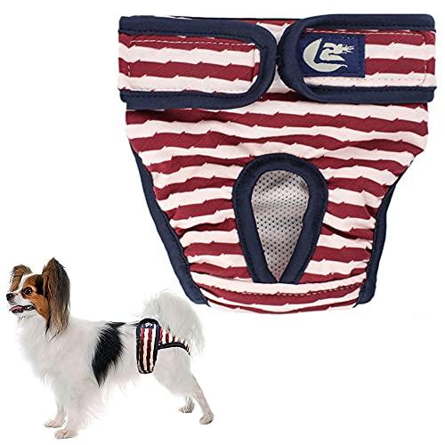ZoneYan Pantalones Fisiológicos para Perros, Reutilizable Pañales para Perros, Lavable Ropa Interior para Perros, Ropa Interior para Perros Suave y cómodo, Perros Pequeños y Medianos(S/M/L)