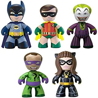 Batman Mini Mezitz 1966 Batman, Robin, Joker, Riddler, Catwoman Mini Figure Multi Pack