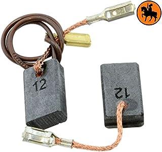 2.0x3.1x7.1 5x8x18mm Balais de Charbon pour BOSCH GWS 9-125 CES coupeuse//scie