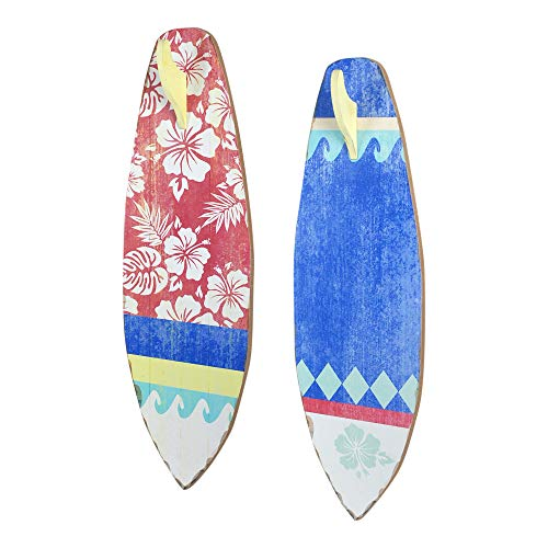 Vidal Regalos Adorno Decorativo Pared x2 Tablas de Surf 60 cm
