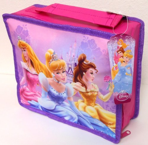 Disney Princess Rectangle Non-Woven Lunch Bag w/Handle & Zipper (3 Princesses)