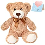 CozyWorld Bow-tie Teddy Bear Stuffed Animal Long Plush Toys Gift for Kids Boys Girls Christmas Birthday, 11'' (Brown)