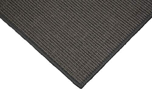 Teppich Janning Sisalteppich umkettelt anthrazit dunkelgrau 100% Sisal gekettelt - Verschiedene Größen (90 x 160 cm)