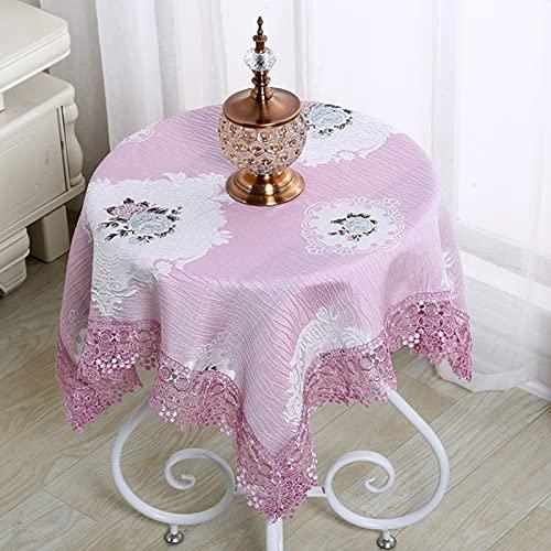 Paño de mesa, limpie y limpie el aceite del hogar impermeable y mantel a prueba de salpicaduras, paño de mesa duradero para el hogar hotel fiesta cafe140* 140cm