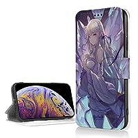 Yongenee リゼロ エミリア 手帳型ケース Iphone 多サイズ ケース ウォレットケース 多機能カード収納 機能ケース 人気 おしゃれ Iphone XR