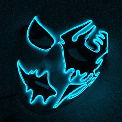 Incroyable Cool Lumineux LED Masque Light Up Ligne De Contrôle Masque pour Noël Halloween Wild Party, Bal De Danse, Parties De Folie, Raves