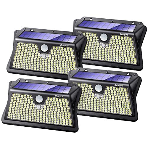 Reayos Luz Solar Exterior, 283 LED 3 Modos Focos LED Exterior Solarescon...