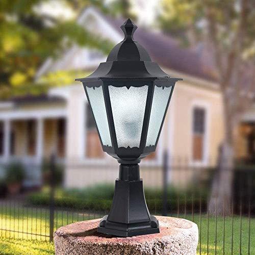 Zhangl Calle europea de cristal linterna Bola del anuncio Columna de la lámpara de la vendimia Victoria pared impermeable al aire libre retro mesa de iluminación tienda Luz de grama de jardín