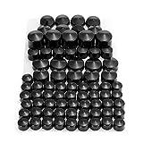 ZXC 76pcs Tornillo de Motocicleta Chrome Black Bolt Toppers Caps Caps Kit Fit for Harley-Davidson...