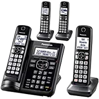 Panasonic Cordless Phone System with Answering Machine (4 Handsets)
