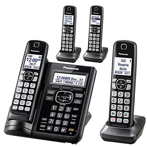 Panasonic Cordless Phone System With 4 Handsets And Answering Machine For $85 From Amazon