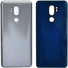 General Rear Battery Door Housing Back Cover Replacement for LG G7 ThinQ G7+ G710 G710ULM G710AWM G710EM G710PM G710VMP Silver Gray