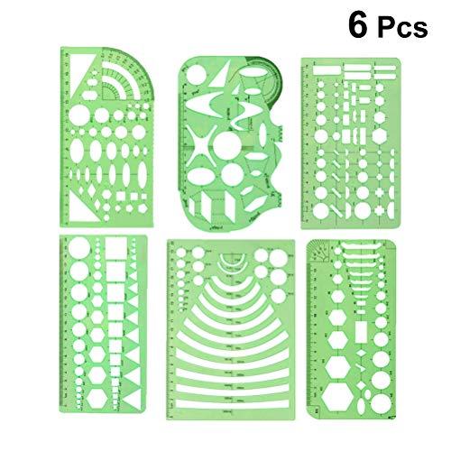 SUPVOX 6Unidades Plantilla de Caracteres Plantillas plástico–Troquel para Repujado para DIY álbum de Bullet Journal Scrapbooking Papel Tarjeta de decoración (Verde)