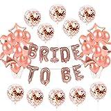 25 Stück Rose Gold Konfetti Ballon Ballon Dekoration | Latex Party Ballon Hochzeit,Geburtstag,...