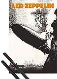 1art1 Led Zeppelin Póster (91x61 cm) Mothership Y 1 Lote De 2 Varillas Negras