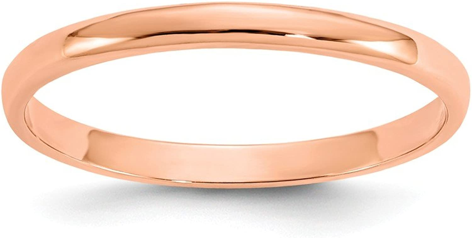 Beautiful pink gold 14K 14K pink gold Madi K Polished Ring