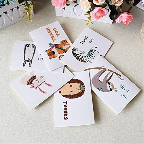 Wenskaarten BLTLYX Custom Bedankkaarten Bulk Verjaardagskaart voor kinderen Notitiekaarten met enveloppen Uitnodigingen Blanco binnenkant Wenskaarten 6 * 4 cm 6 kaarten 6 enveloppen