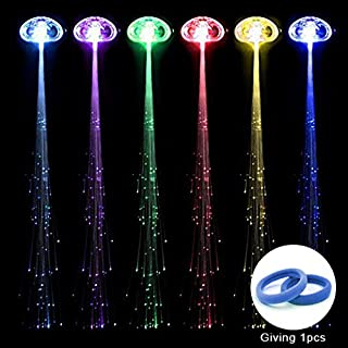 RioRand 6-pack Light-up Fiber Optic Led Hair Lights (14