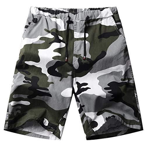VENMO Herren Camo Cargo Shorts Jogger Pants lose Kurze Hosen Lässige Strandhose Badehose Badeshorts Strand Shorts Beach Shorts Schwimmhose