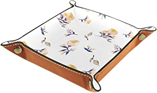 Biaoya Quadrangle Boîte de Rangement de Bureau Pliable en Cuir PU Boîte de Rangement Pliable Dés Plateau à Roulettes Pour ...