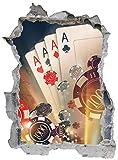 Casino Glückspiel Vegas Poker Ass Wandtattoo Wandsticker Wandaufkleber E0062 Größe 67 cm x 90 cm