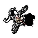 MASERTT Bicicleta de montaña Trials Disco de Vinilo Reloj de...
