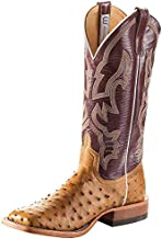 Anderson Bean Mens Mad Dog Full Quill Ostrich 13in Sangria