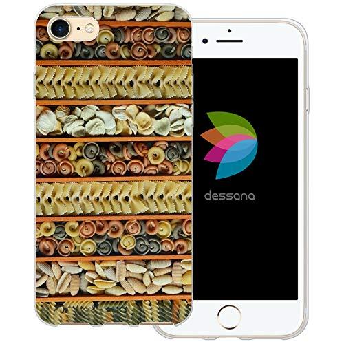 dessana Nudel Pasta transparante beschermhoes mobiele telefoon case cover tas voor Apple, Apple iPhone 8, Pasta-soorten.