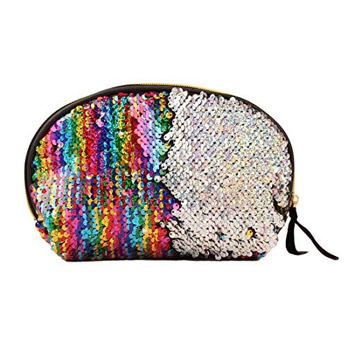 Bagage Paillettes Maquillage Sac Shellfish sirène Porte-Monnaie Fille Voyager téléphone Portable Sac (Couleur) Zys (Couleur : Colour)