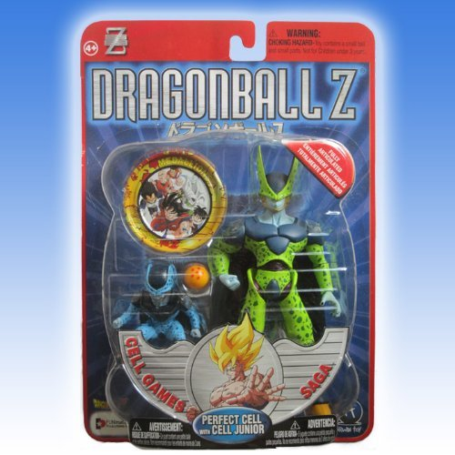 """Dragonball Z 5"""" PERFECT CELL w/CELL JUNIOR Action Figure Set (CELL GAMES SAGA) - IRWIN TOYS SERIES 6 image"""