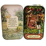 Oshide Schön Puppenhaus in der Box Vintage Design Mini Haus Mit Licht als Kinder Weihnachten...