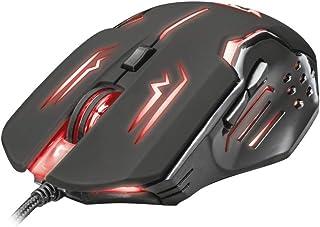 Trust GXT 108 Rava - Ratón Gaming con iluminación, Color Negro