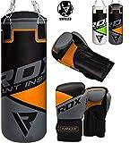 RDX Kids Punch Bag UNFILLED Set Junior Kick Boxing 2FT Heavy MMA Training