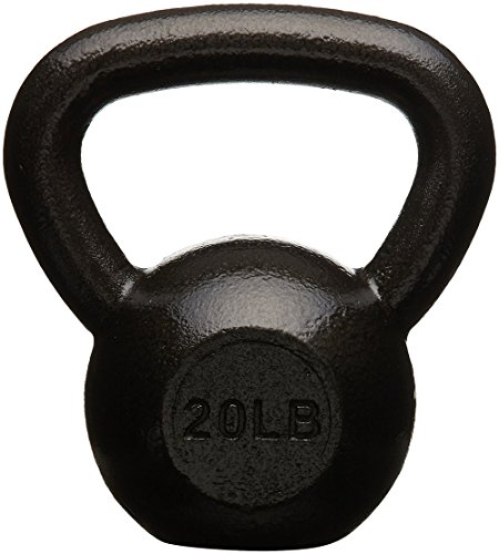 AmazonBasics Cast Iron Kettlebell - 20 Pounds, Black